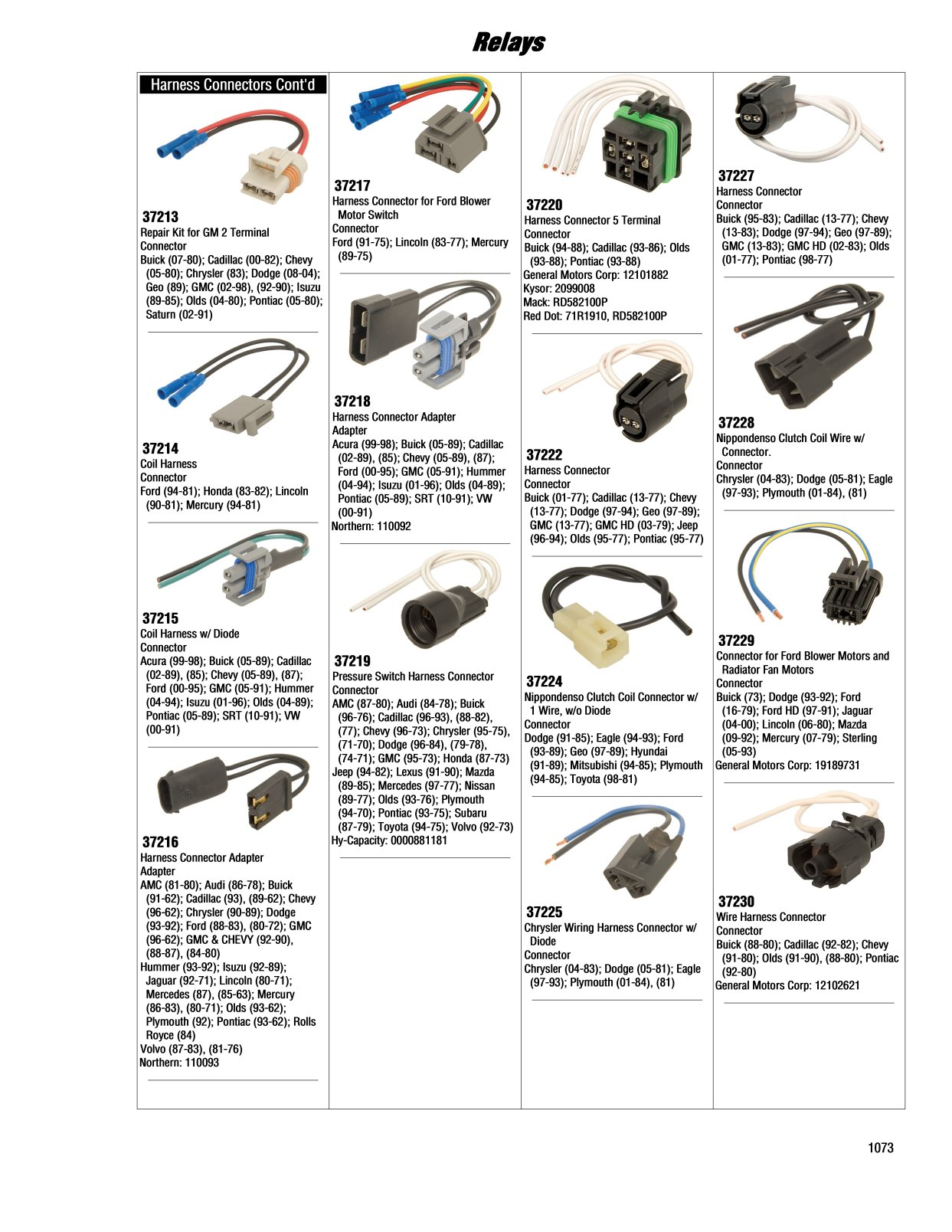 2017 Illustrated Guide Page 1073 Relays Jeep Wiring Harness Connectors