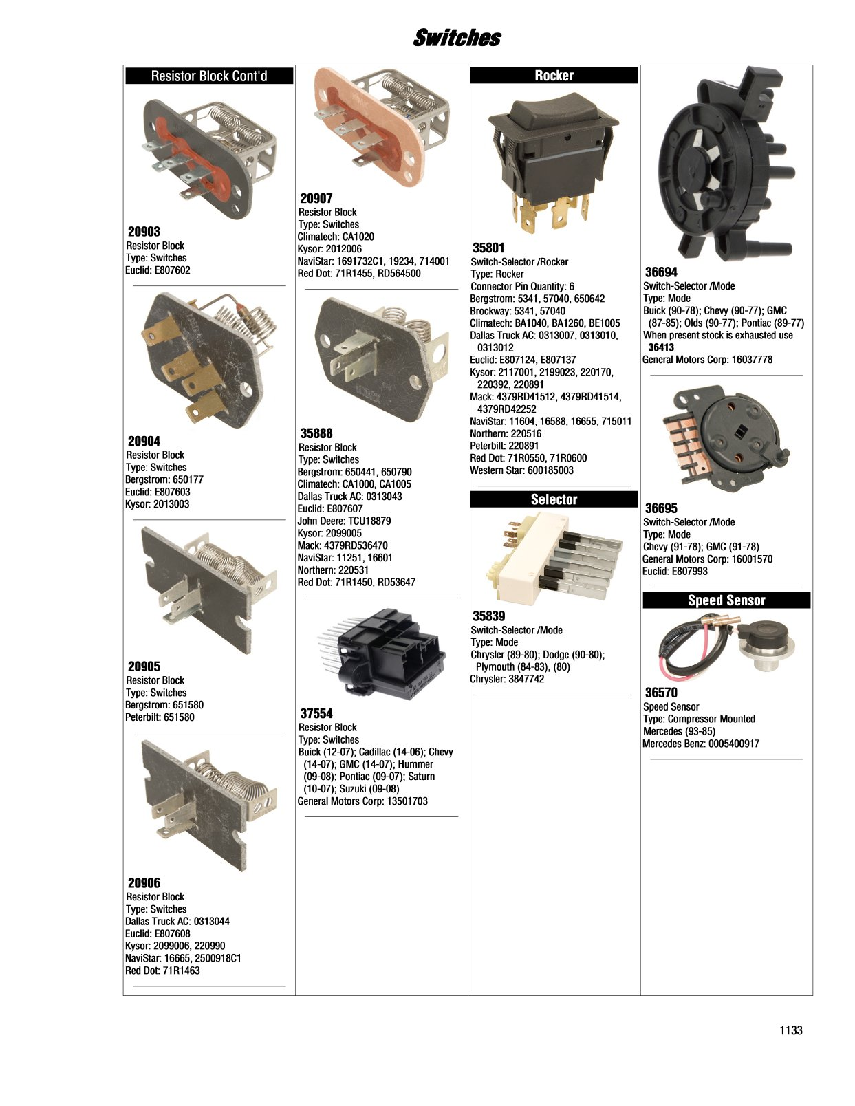 Kysor Cadillac Switch Wiring Diagram Illustrated Guide Page Switches 1243x1608