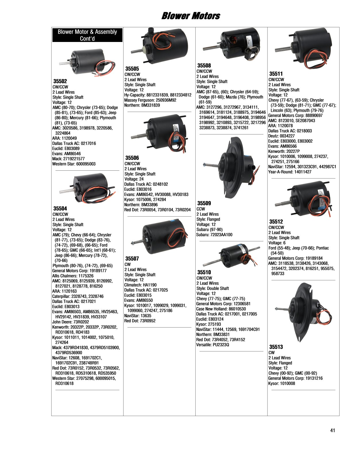 2017 Illustrated Guide Page 41 Blower Motors Ac Motor Wiring Red Black White Blue Help