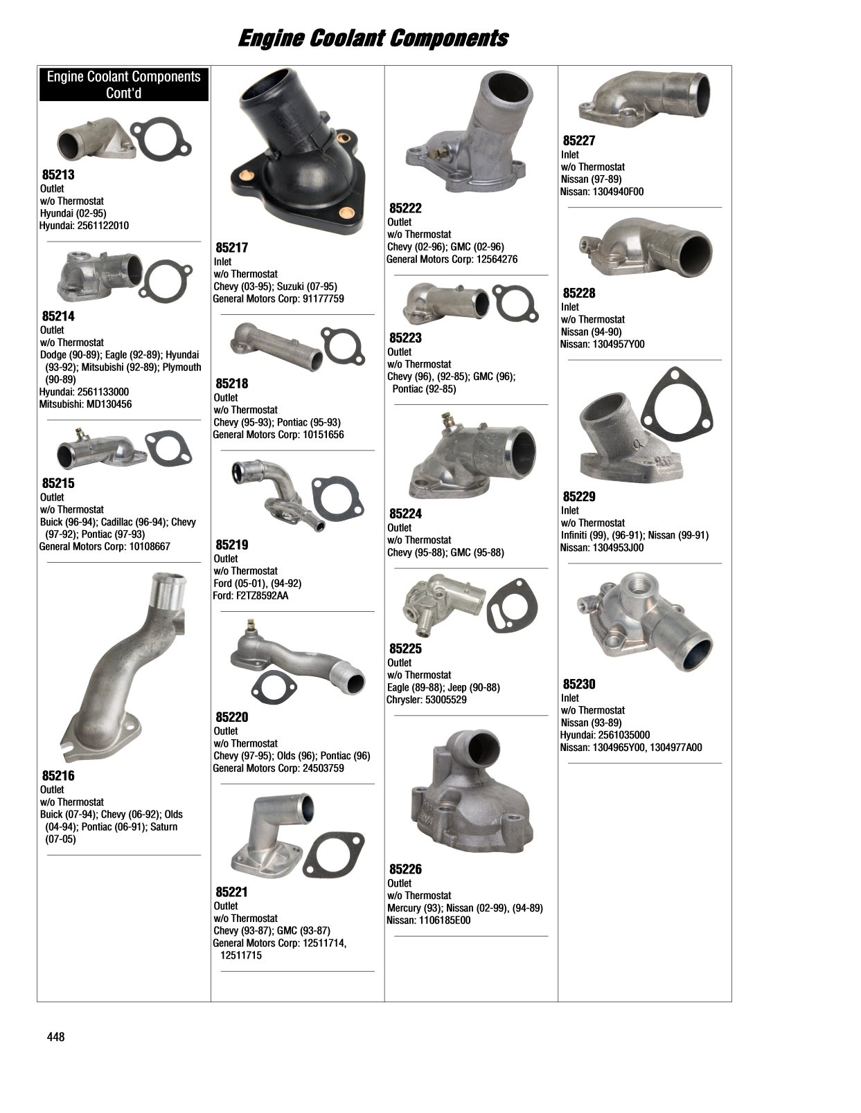 Engine Coolant Components 2017 Illustrated Guide Page 448 Pontiac