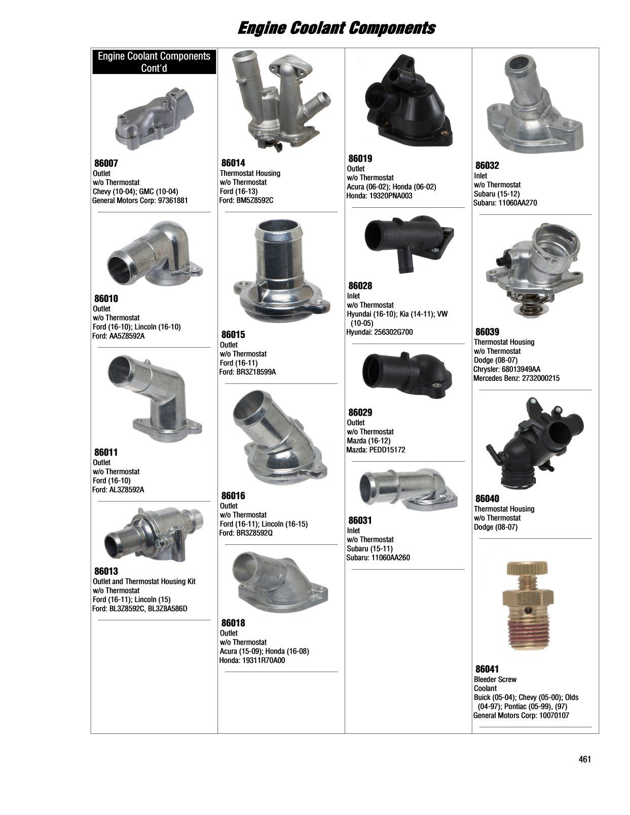 2017 Illustrated Guide Page 461 Engine Coolant Components General