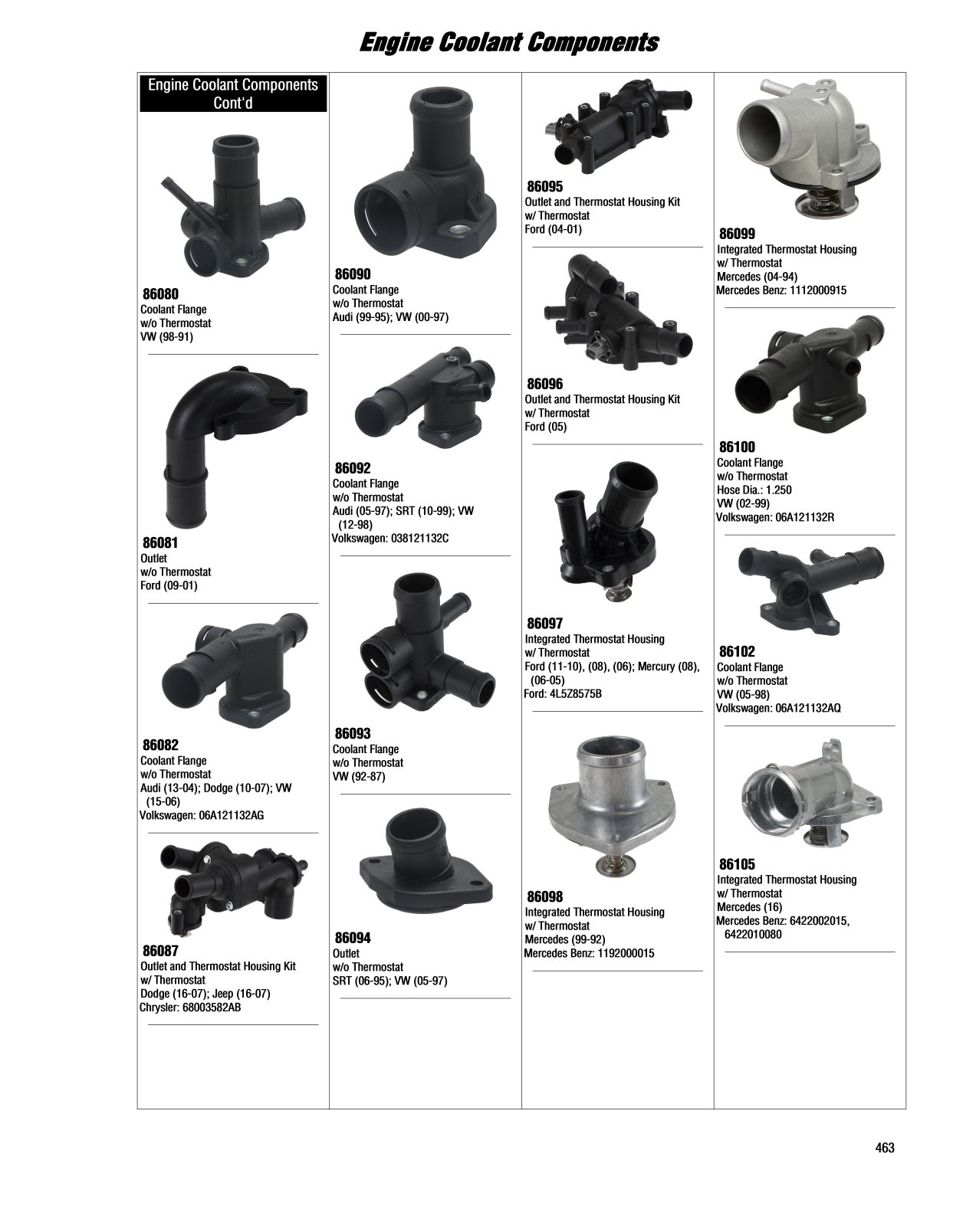 2017 Illustrated Guide Page 463 Engine Coolant Components Vw