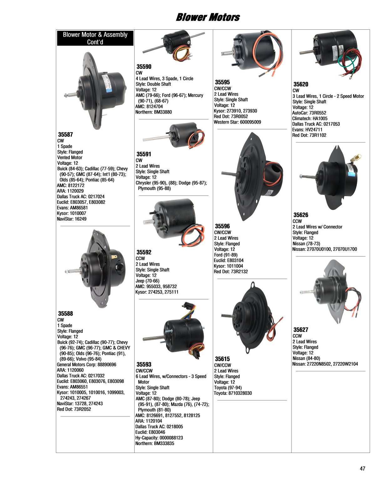 2017 Illustrated Guide Page 47 Blower Motors 91 Chevy Ac Wiring