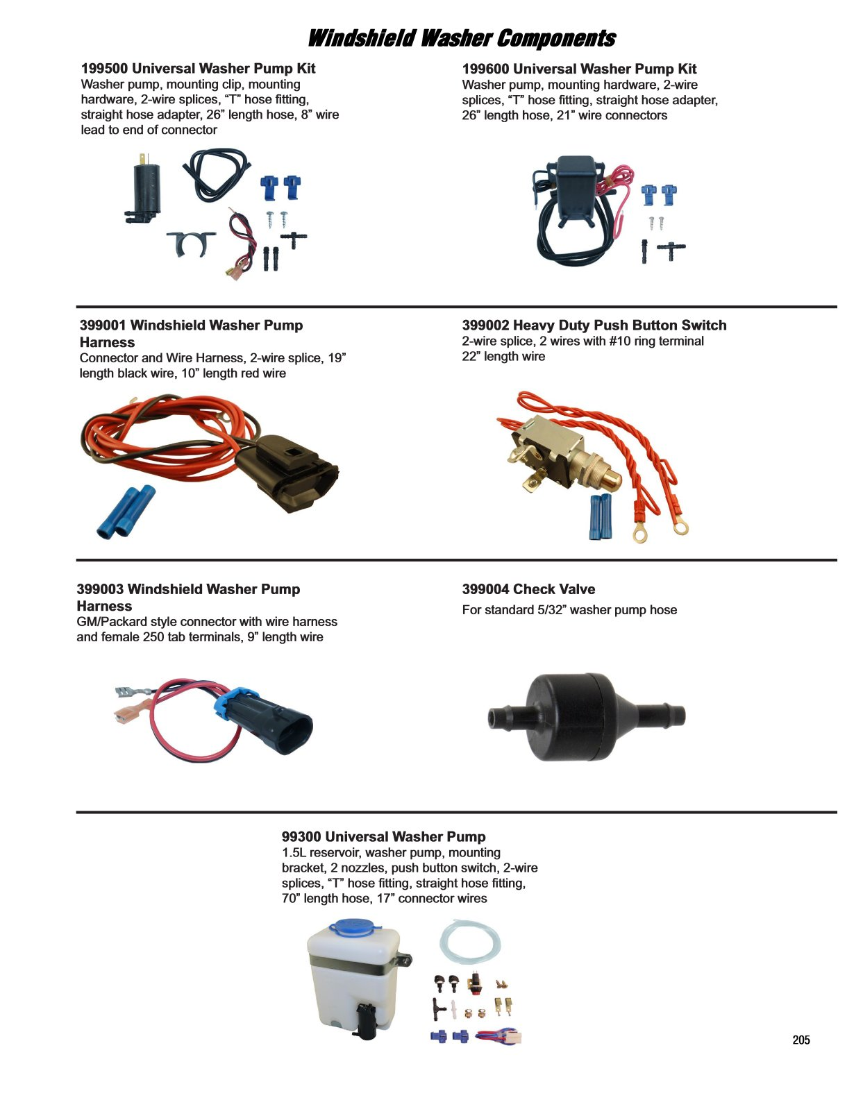 2017 Illustrated Guide - Page 205 Universal Washer Pump and Harness
